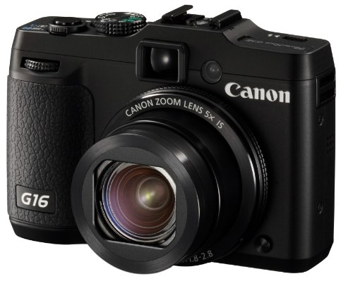 Canon PowerShot G16 digital camera 5 times zoom PSG16 wide angle 28mm optical - International Version (No Warranty) - Model Cipa New