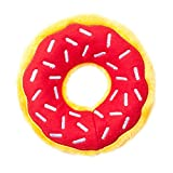 ZippyPaws Donutz Squeaky Plush No-Stuffing Dog Toy (Cherry)