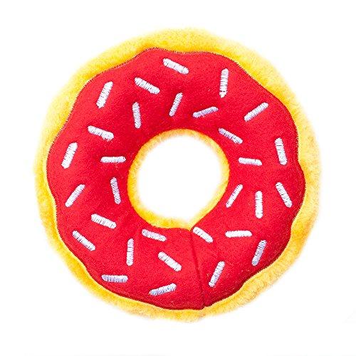 Air Dog Squeaker Donut - ZippyPaws ZP654 Donutz Cherry Squeak Toy