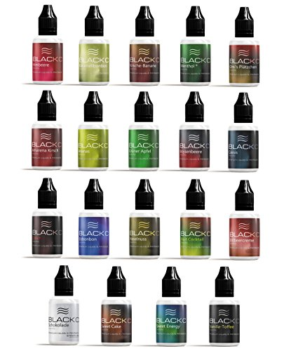 BLACKC Premium E-Liquid ohne Nikotin für E-Zigaretten und E-Shishas, 60PG / 40VG, E-Liquid fertig gemischt, Made in…