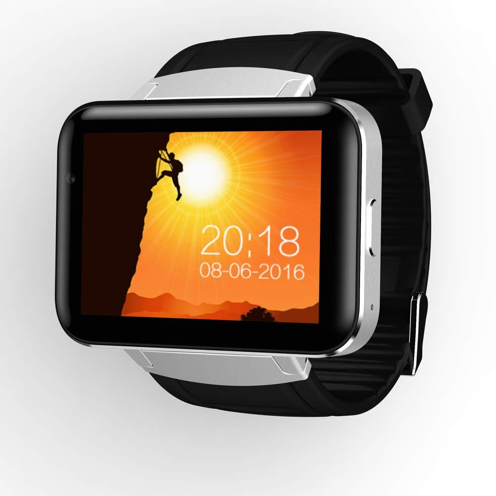 スマートウォッチサポート WIFI 接続 GPS ナビゲーション Bluetooth 4.0 人造人間5.1 ビデオ通話音楽プレーヤー,Black B07K9PSP4D