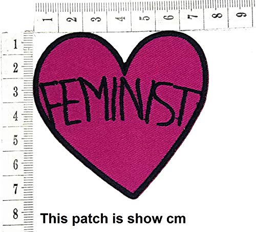 Feminist Heart Joke Funny Cartoon Chidren Kids Embroidren Iron Patch/Logo Sew On Patch Clothes Bag T-Shirt Jeans Biker Badge Applique