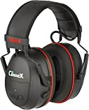 CONNEX Bluetooth Hearing Protector Over-the-head Earmuffs by TASCO, Certified 25 NRR, 3600