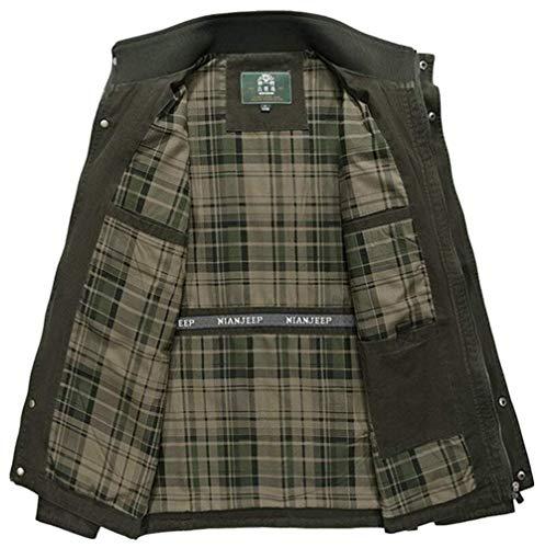 Pure Roulé Pour Jacket Manteau Olive Cotton Longues 3 kaki Sweat Army Man Manches Col Chic Combat Hommes Mieuid Pull Vintage À YBOwqfII