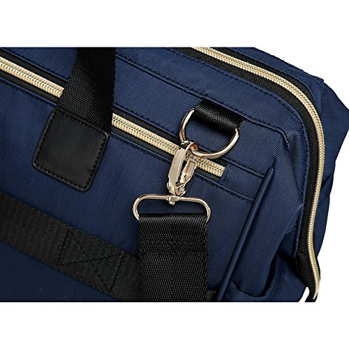 Bolsa de Pañales con Bono cambiador cambiando Tote Bolsas oscuro azul momia bolso cambiador Bolso bandolera Backpack Handbag