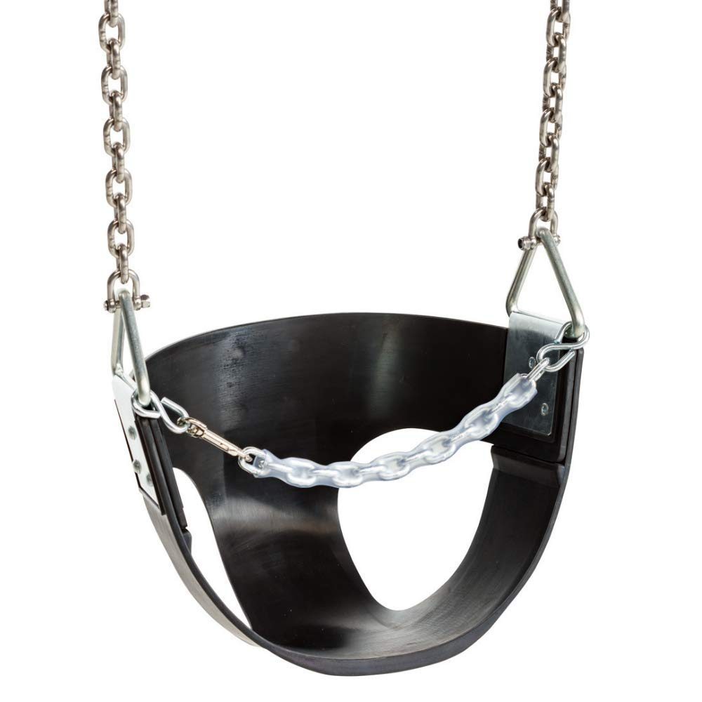 Blue Rabbit Play Outdoor Toddler//Baby Half-Bucket Swing with Chains Black 1007-06-002 Commercial-Grade