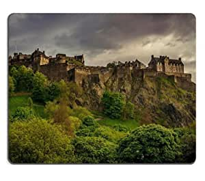 Landscapes Castles Trees Europe Scotland Mouse Pads Customized Made to Order Support Ready 9 7/8 Inch (250mm) X 7 7/8 Inch (200mm) X 1/16 Inch (2mm) High Quality Eco Friendly Cloth with Neoprene Rubber MSD Mouse Pad Desktop Mousepad Laptop Mousepads Comfortable Computer Mouse Mat Cute Gaming Mouse pad