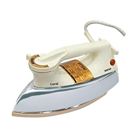 Inalsa Coral 1000-Watt Electric Iron (SS/Opal White) Dry Irons at amazon