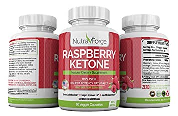 Raspberry Ketone Max Strength 1600mg – Natural Ketogenic Fat Burner – Advanced Weight Loss Appetite Suppressant – Keto Diet Pill Boost Energy Metabolism 3 Pack