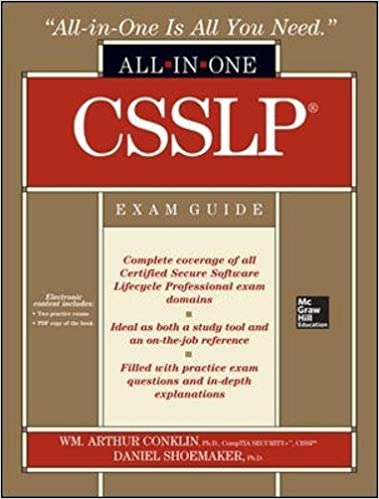 csslp certification all in one exam guide wm arthur conklin