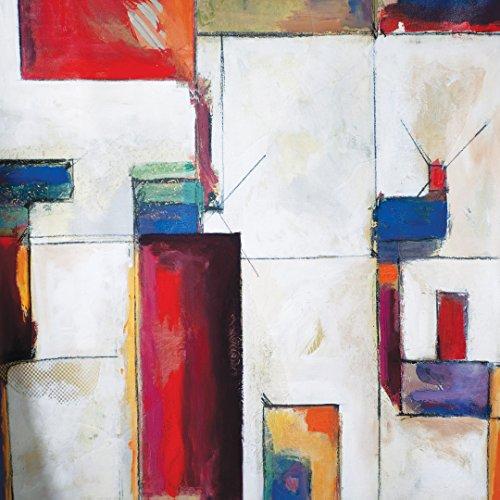 ポートフォリオキャンバスの装飾NCU4600 35×35インチColorblock 2は入れると大きなキャンバスの壁アートストレッチの商品画像