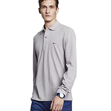 21d7c03b Lacoste L1312 Polo Men, grey, 8: Amazon.co.uk: Sports & Outdoors