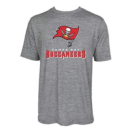NFL Tampa Bay Buccaneers Men's Tonal Gray Wordmark Logo Tee, Gray, X-Large