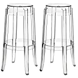 Modway Casper Bar Stools in Clear - Set of 2