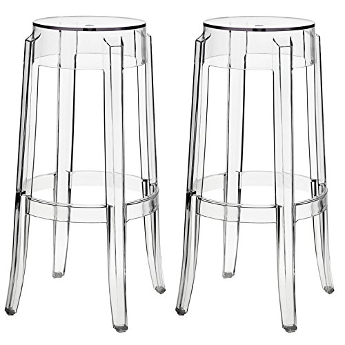 (Modway Casper Bar Stools in Clear - Set of 2 )