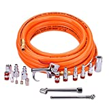 "WYNNsky Air Accessories Kits 3/8""X25ft PVC Air Compressor Hose with 17 Piece Air Tool Air Compressor Kits"