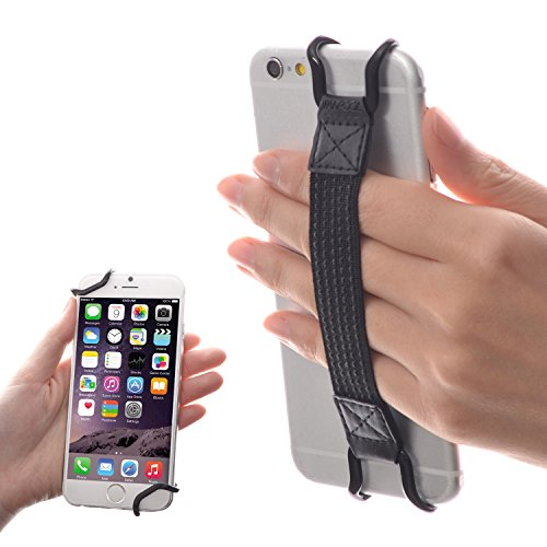 WANPOOL Universal Non-slip Hand Strap Grip Holder for HUAWEI Mate 9 / P10 / P10 Plus - iPhone 6 / 6S / 7 (Plus) - Samsung Galaxy S4 / S5 / S7 and More