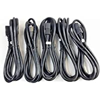 Pack of (5) 6 foot IEC 320 NEMA C13 C14 10A 14AWG AC Power Cord PDU to CPU