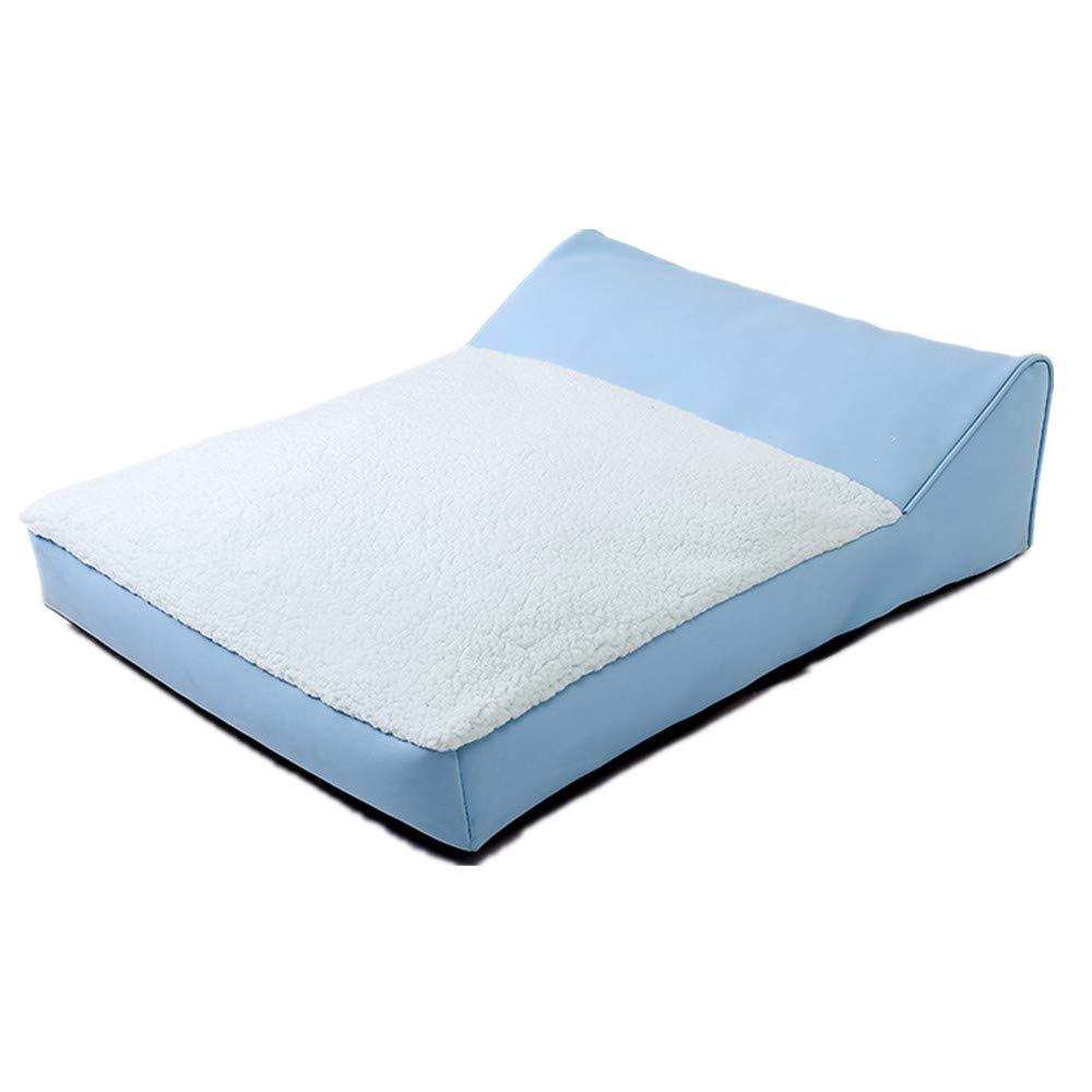 80X60X10cm Mzdpp Fashion Soft And Comfortable Dog Bed Pet Warm Kennel Cat Litter Washable bluee 80X60X10Cm 80X60X10Cm