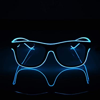 Fría Fashion Sol Luminosas Neon Led Wire Luz De EstándarEl Gafas Tc31JFKl