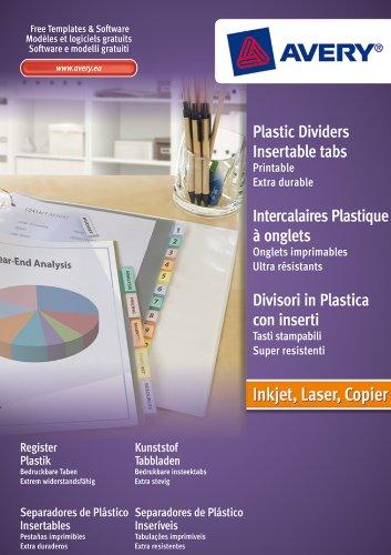 Avery IndexMaker Trennblätter zum Einschieben Polypropylen mit Reiter-Einschub 12-teilig sortiert