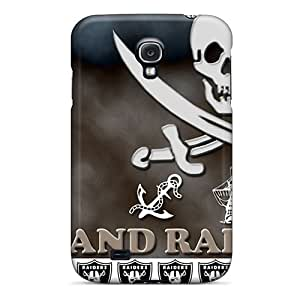 Scratch Resistant Hard Phone Case For Samsung Galaxy S4 With Unique Design Colorful Oakland Raiders Series AnnaDubois