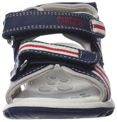 Chicco Jungen Carrot Peeptoe Sandalen Blu (Jeans)
