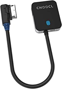 CHOOCL Bluetooth 5.0 aptX-HD Adapter with AMI/MDI Cable for 2010-2019 Year Audi AMI MMI 3g and 2005-2011 Year Mercedes MDI iPod iPhone Music Interface (3000A)