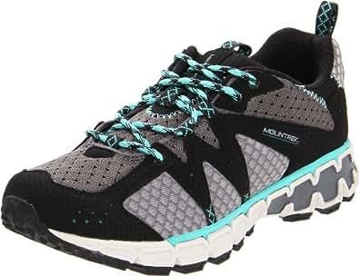 Mountrek Women's Woodland Trail Running Shoe,Light Grey/Light  Blue,6 M US