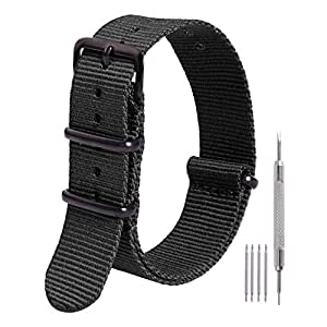 Ritche NATO Strap 18mm Premium Nylon Watch Band Replacement Watch Strap for Men Women