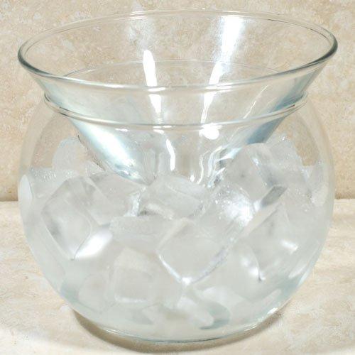 Glass Caviar Server - Up To 3 Serving (5.5 oz) - Caviar Plate plus Bowl For Ice