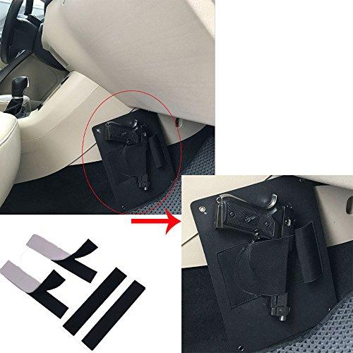 Concealed Vehicle Car Pistol Holster Carry Seat/Door/Closet Handgun Holder Ambidextrous Torch Storage