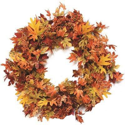 32 in. Autumn Harvest Artificial Wreath [並行輸入品] B07Q2WQNBZ