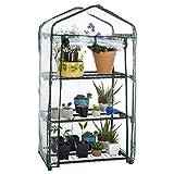 "Pure Garden 3 Tier Mini Greenhouse with Cover, 27.5 x 19 x 50"""