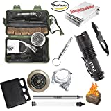 traveling gear - Yumay 10 in 1 Emergency Survival Kits Multi-Purpose Survial Tools Outdoor Emergency Gear Kits Campfire Tools for Camping Adventure Hunting Traveling Fishing.