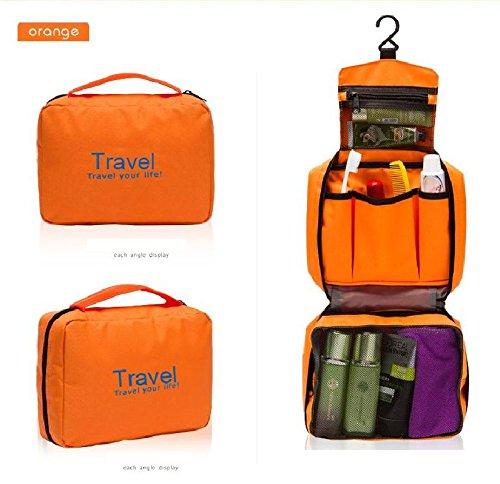 fulla2116Luxus Faltbar Tasche zum Aufhängen Make-up Wandern Turnbeutel (orange)