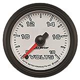 Auto Meter AutoMeter 19592 Gauge, Voltmeter, 2 1/16'', 18V, Digital Stepper Motor, White, Pro-Cycle