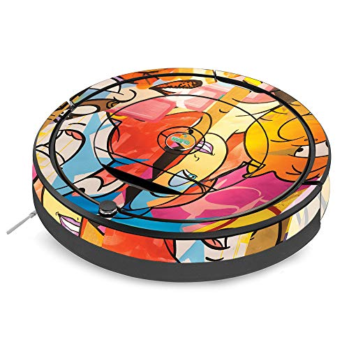 MightySkins Skin for iRobot Roomba 890 Vacuum - Cartoon Smiles | Protective, Durable, and Unique Vinyl Decal wrap Cover | Easy to Apply, Remove, and Change Styles | Made in The USA (Jessica Cleansers)