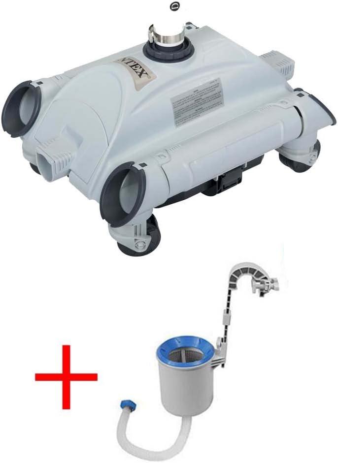 Oferta robot limpiador de fondos para piscina + skimmer Intex ...