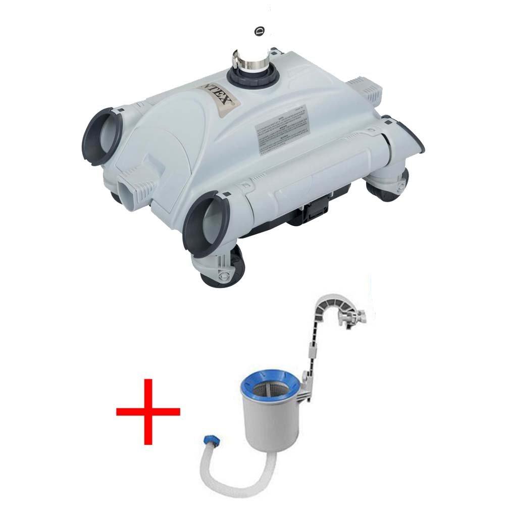 Oferta robot limpiador de fondos para piscina + skimmer Intex 28001: Amazon.es: Jardín