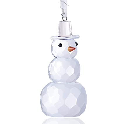 Crystal Christmas Ornaments.H D Crystal Glass Christmas Snowman Holiday Figurine Hanging Crystals Christmas Ornaments