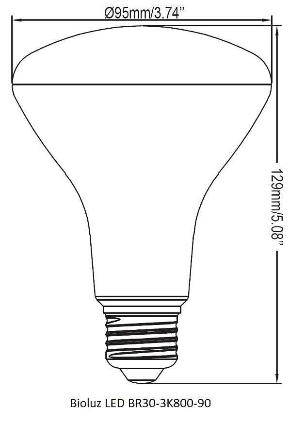 Br30 Bright Led Light Bulbs By Bioluz Led Instant On Warm White Led