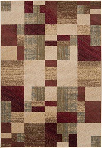 4u0027 x 55u0027 organized chaos burgundy and beige shedfree area throw rug