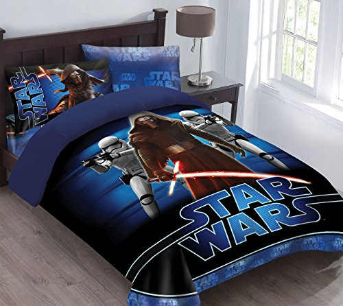 Star Wars The Force Awakens Comforter Set with Fitted Sheet, Full - Star Wars Sheets