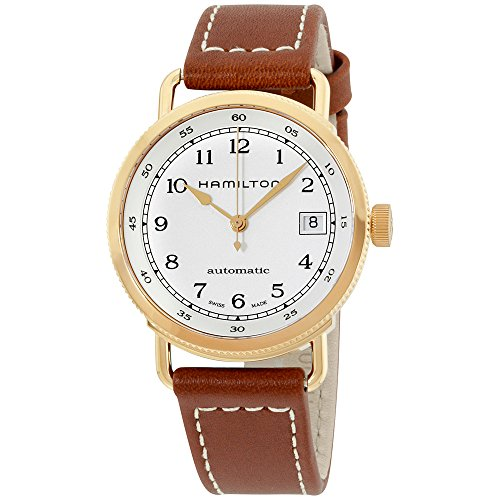 Hamilton Silver Dial Brown Leather Strap Ladies Watch H78205553