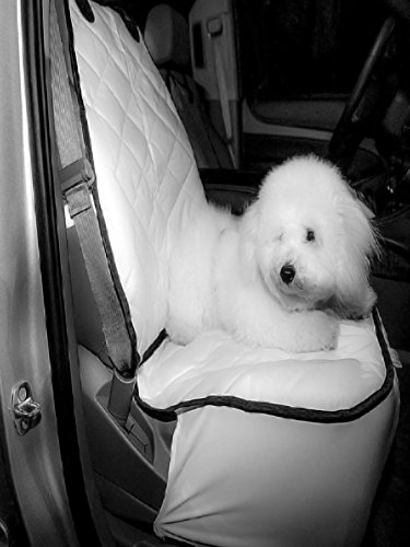Plush Paws Co-Pilot Pet Car Seat Cover for Bucket Seats with Bonus Harness and Seat Belt for Cars, Trucks, SUVÕS and Vehicles – White Review