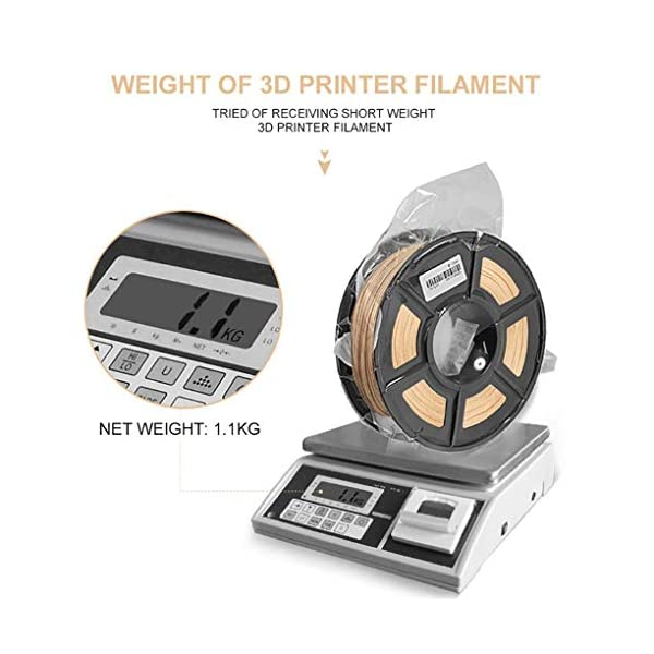 Pla printing filament 1kg, suitable for 3d printer and 3d pen, 3d printing filament wood, high precision 1.75mm/3.00mm (size : 1.75mm)