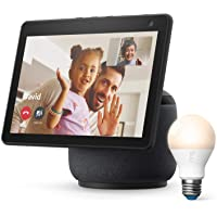 $199 » Ring A19 Smart LED Bulb, White, bundle with All-new Echo Show 10 (3rd Gen) - Charcoal
