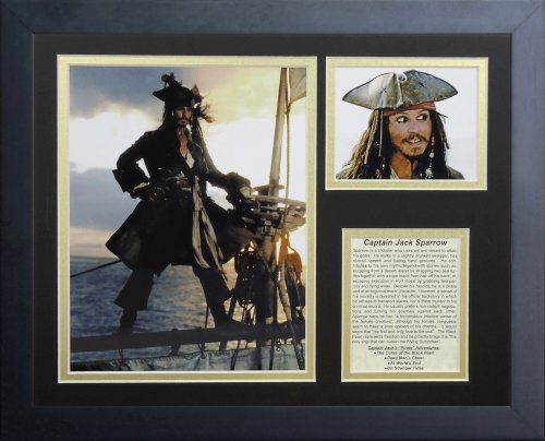 Legends Never Die Captain Jack Sparrow Framed Photo for sale  Delivered anywhere in Canada