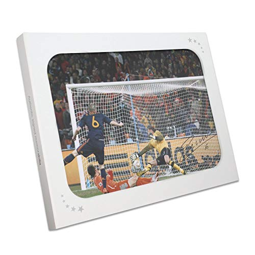 Andres Iniesta Signed Spain Photo: World Cup 2010 Winning Goal In Gift Box | Autographed Memorabilia